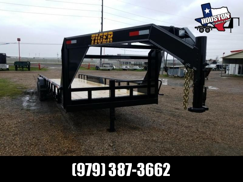 2019 Tiger 24' Lowboy GN 14k Equipment Trailer