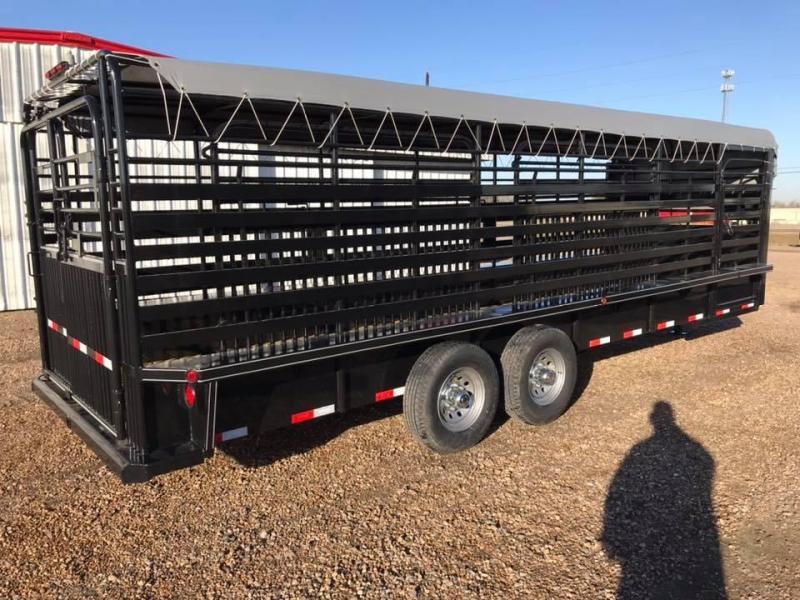 2020 Delco Trailers 24' Livestock GN 14k Livestock Trailer