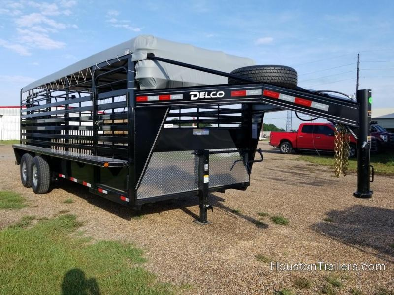 2020 Delco Trailers 20' Bar Top Livestock Trailer DEL-87