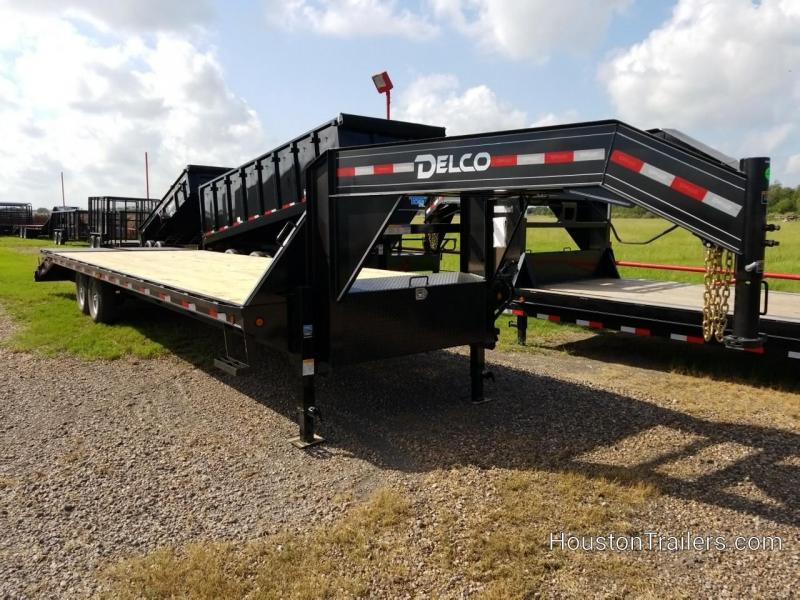 2020 Delco Trailers 30' GN 14k Flatbed Trailer