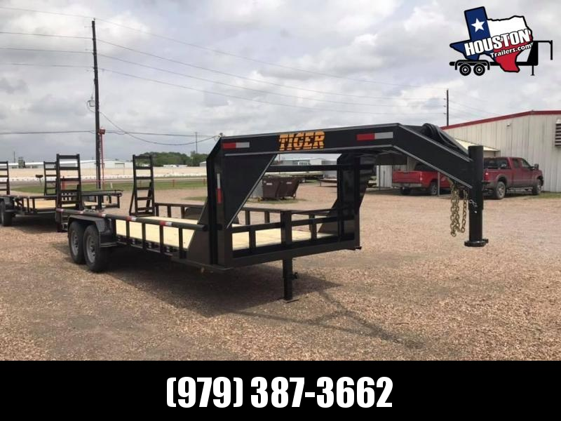 2020 Tiger 20' GN Pipetop Lowboy 14k Equipment Trailer