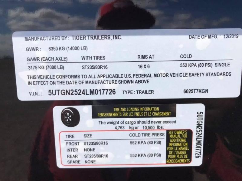 2020 Tiger 5 Bale Hay Trailer GN 14k Other Trailer