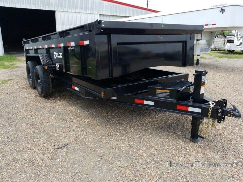 2019 Delco Trailers 16 ft. Low Pro Dump Trailer DEL-66