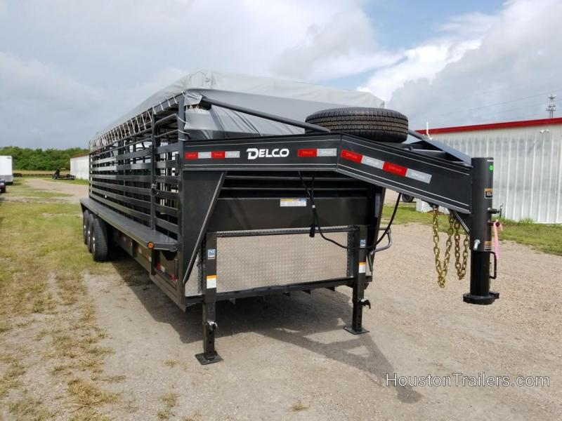 2019 Delco Trailers 28' Bar Top Livestock Trailer DEL-77