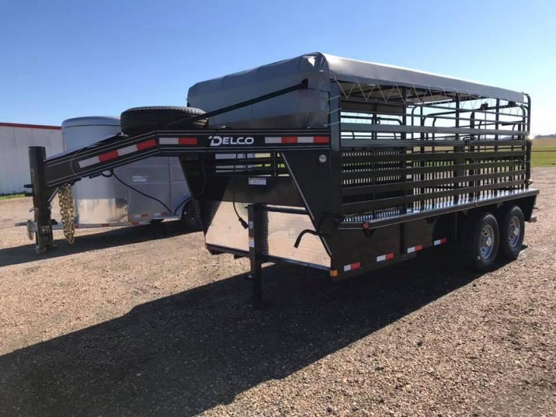 2020 Delco Trailers 16' Livestock GN 14k Livestock Trailer