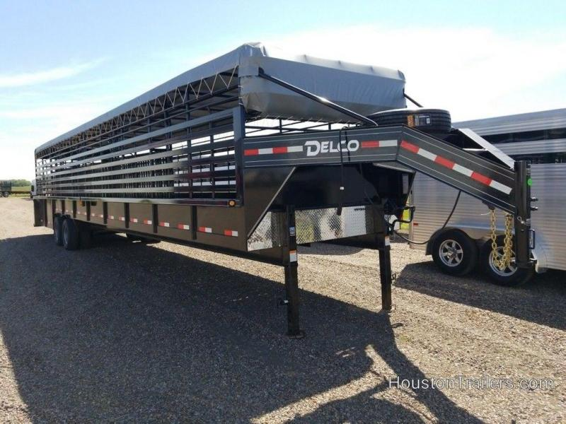 2019 Delco Trailers 40 ft Livestock Groundload DEL-62