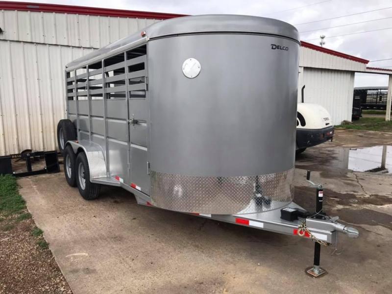 """2020 Delco Trailers 16' x 6'8"""" Livestock 10k Livestock Trailer"""