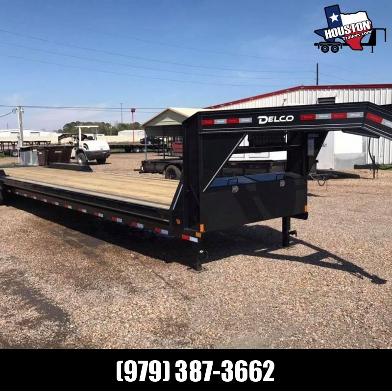 2020 Delco Trailers 40' GN Lowboy 21k Flatbed Trailer