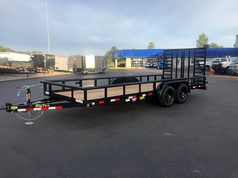 2020 Big Tex  10PI 7 x 20' Pro Series Tandem Axle Pipe Top Utility / Landscape Trailer