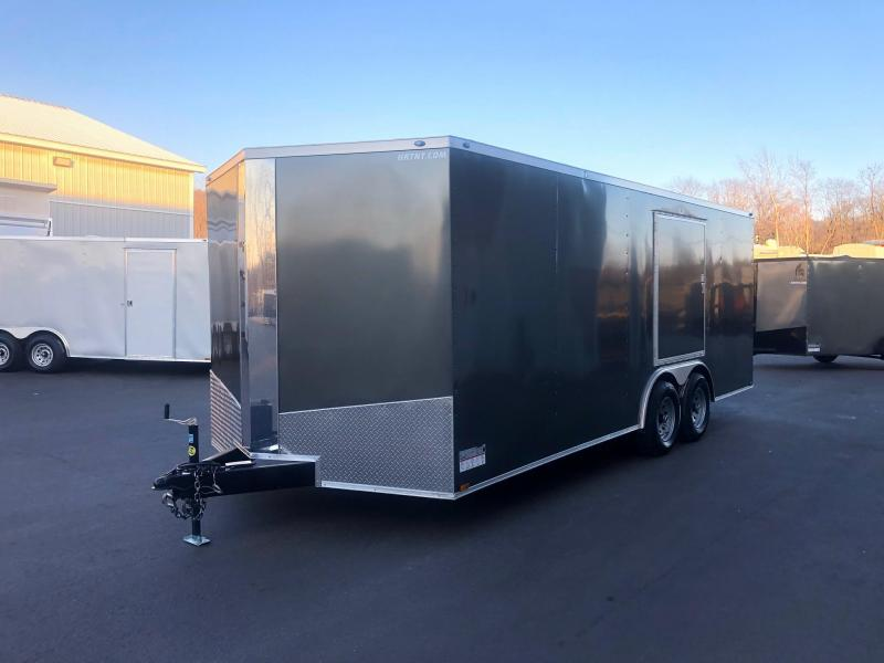 SPARTAN CARGO 2020 8.5 X 20 TANDEM AXLE  CHARCOAL SEMI SCREWLESS W/ SIDE ACCESS DOOR  ENCLOSED TRAILER