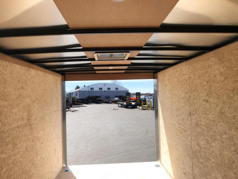 2020 LOOK 7x14 VISION  WEDGE WHITE SCREWLESS ENCLOSED CARGO TRAILER