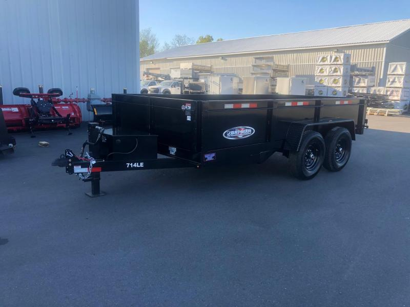 BRI-MAR 2020  7' X 14' BLACK LOW PROFILE DUMP TRAILER