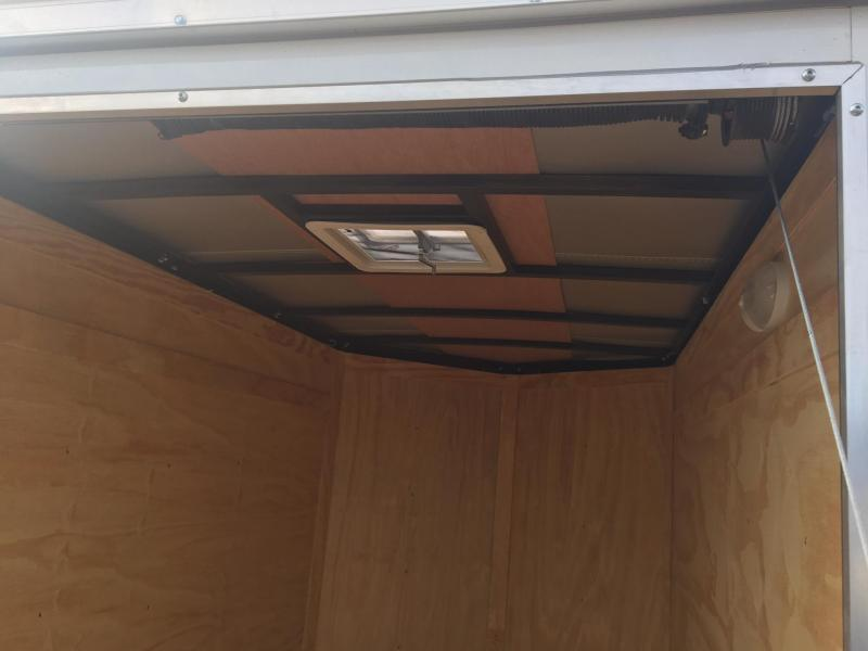 """ROCK SOLID 2020 5' x 8' SINGLE AXLE BLACK ENCLOSED TRAILER with 12"""" ADDITIONAL HEIGHT"""