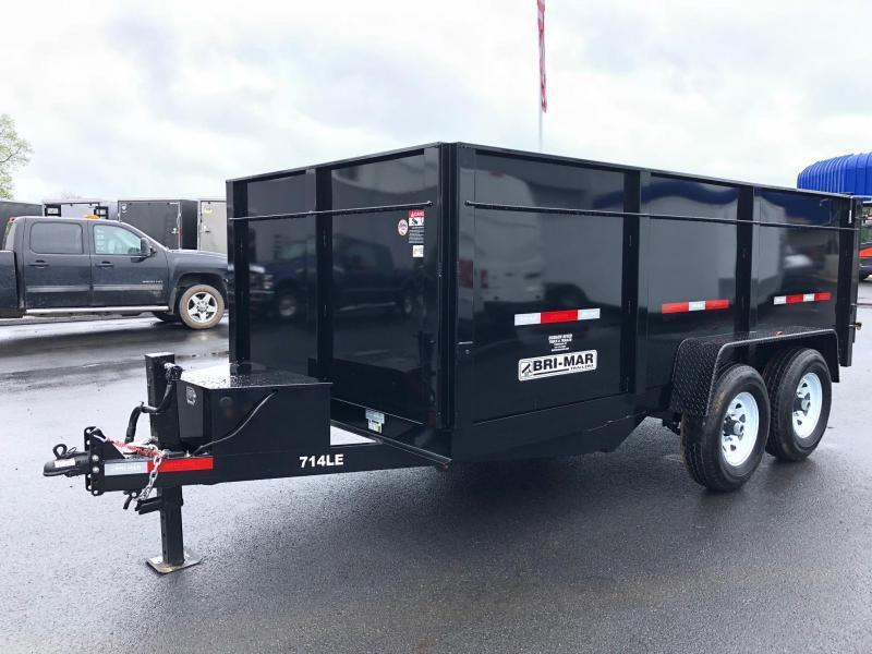 BRI-MAR 2019 7' X 14' BLACK LOW PROFILE DUMP TRAILER