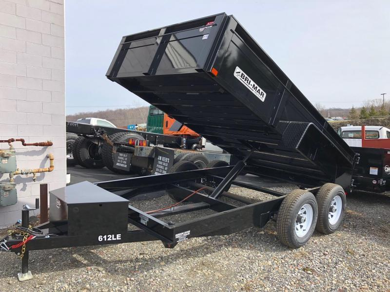 BRI-MAR 2020  6' x 12' TANDEM AXLE LOW PROFILE DUMP TRAILER