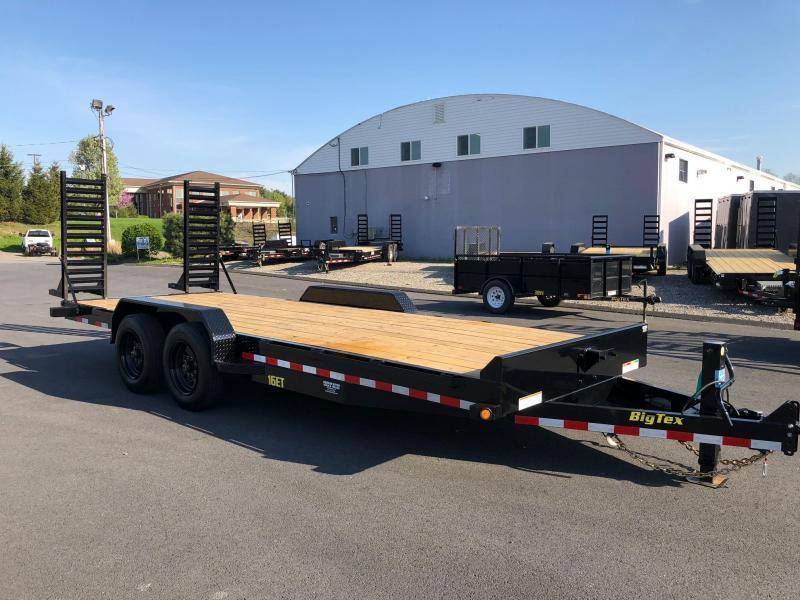 BIGTEX 2020 7' x 20' 16ET SUPER DUTY TANDEM AXLE EQUIPMENT TRAILER  17000 lb. GVW