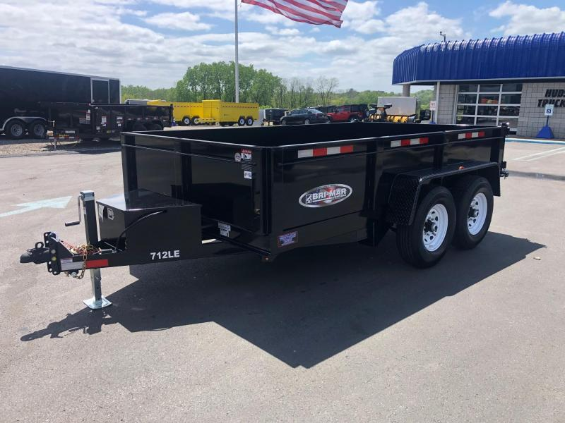 BRI-MAR 2020 7' x 12' LOW PROFILE BLACK DUMP TRAILER
