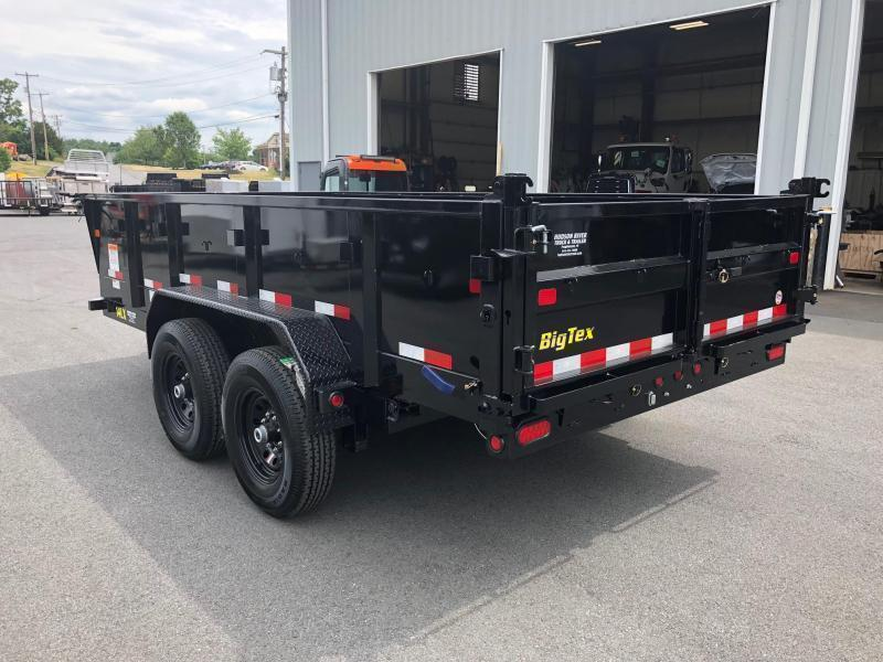 BIGTEX 2020 14LX-14 (7' x 14') BLACK HEAVY DUTY TANDEM  DUMP TRAILER