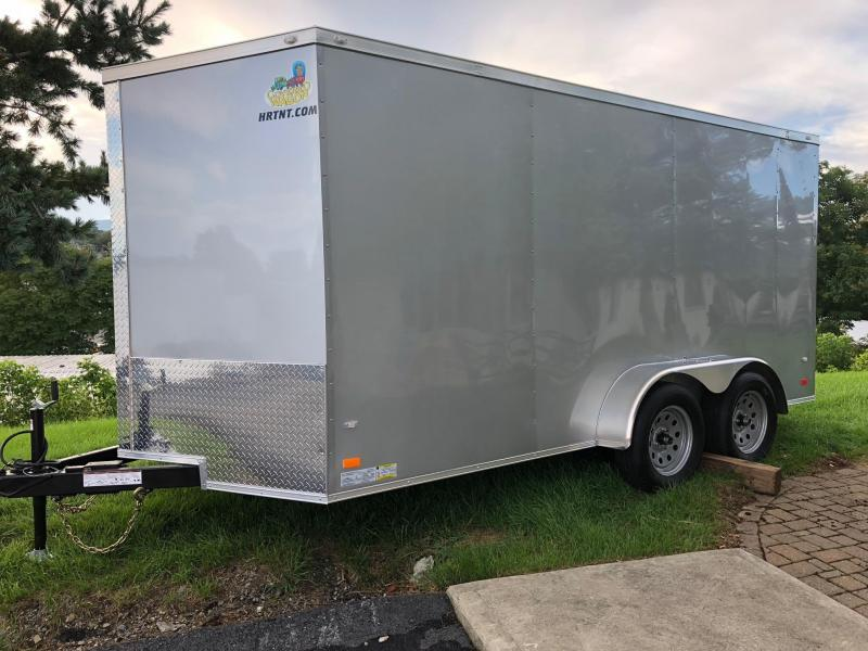 COVERED WAGON 2020 SILVER 7 x 14 TANDEM AXLE SEMI-SCREWLESS ENCLOSED CARGO TRAILER