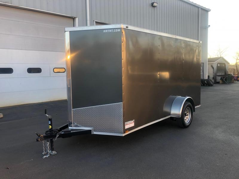 SPARTAN CARGO 2020  6X12 SINGLE AXLE CHARCOAL  SEMI SCREWLESS ENCLOSED TRAILER