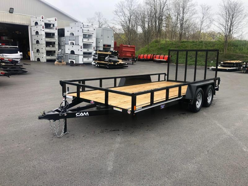 2020 Cam Superline 7 x 16 TA TUBE TOP Utility/ Landscape Trailer
