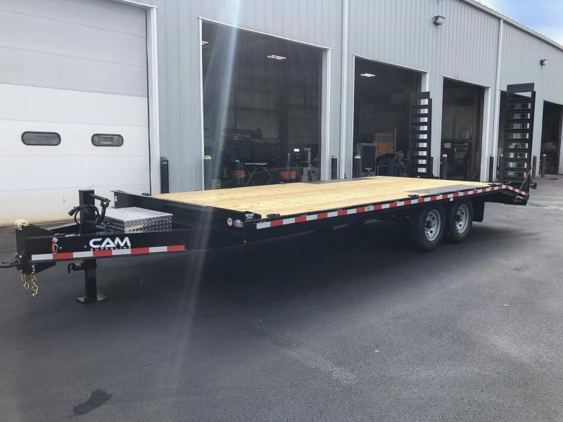 CAM 2020 7-TON 8.5' X 20'  DECKOVER EQUIPMENT TRAILER