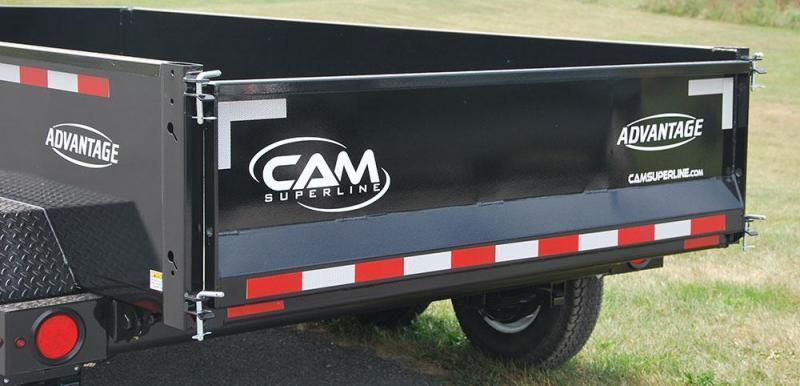 CAM ADVANTAGE 2019 6' x 10' LOW PROFILE DUMP TRAILER  8000 lb. GVW