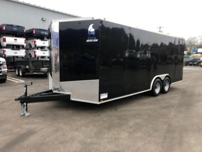 SPARTAN CARGO 2020 8.5 X 20 TANDEM AXLE  BLACK SEMI SCREWLESS W/ TRIPLE TUBED TONGUE ENCLOSED TRAILER
