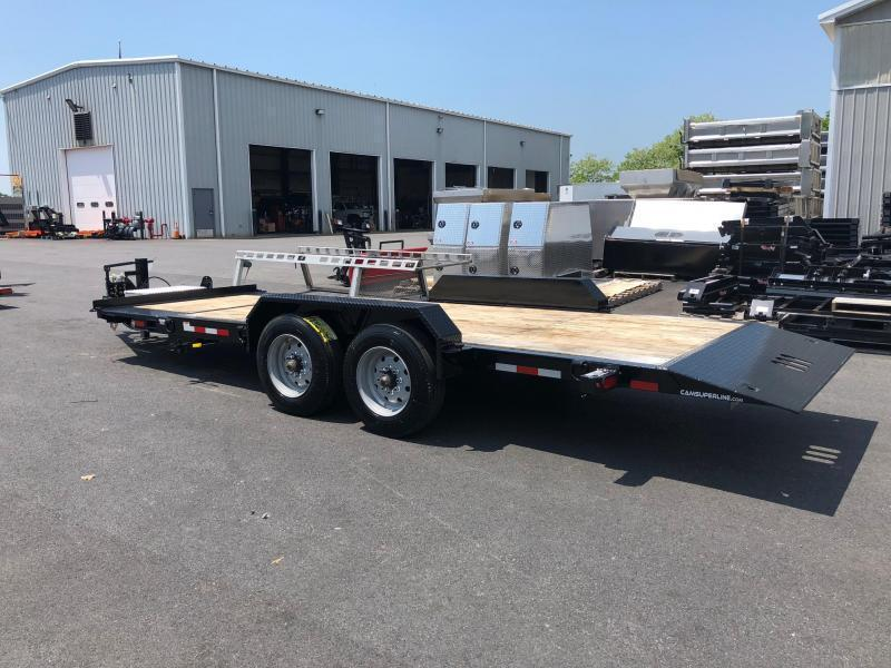 CAM 2020 8.5 X 15+4 8 TON TILT SPLIT DECK EXTRA WIDE EQUIPMENT TRAILER (8CAM159STTXW)