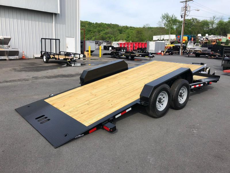 CAM 2020 7-TON 8.5' X 16+4' SPLIT TILT LOW PROFILE EXTRA WIDE UTILITY TRAILER