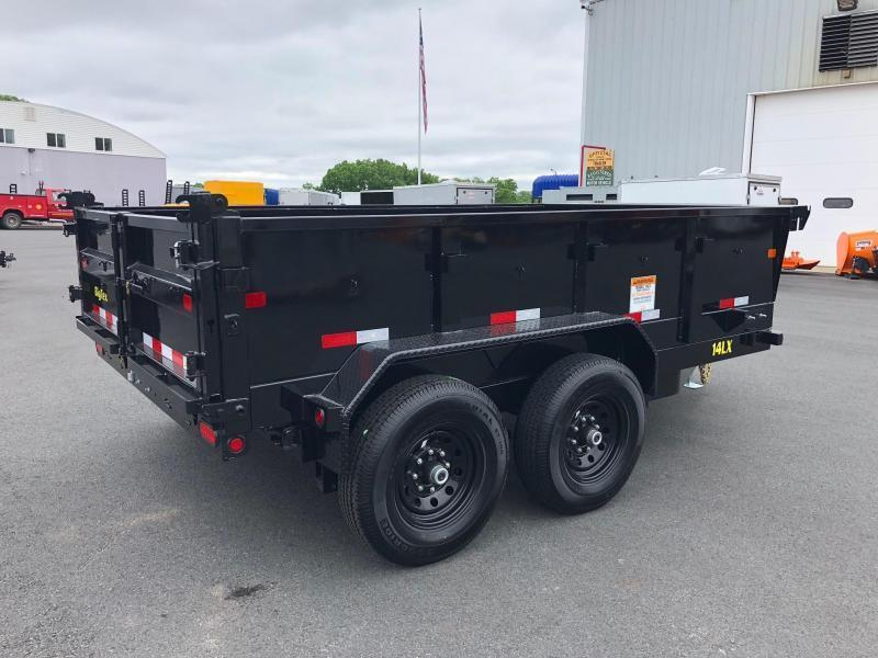 BIGTEX 2020 14LX-12 (7' x 12') BLACK HEAVY DUTY TANDEM EXTRA WIDE DUMP TRAILER