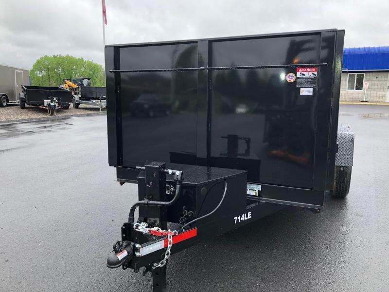 BRI-MAR 2019 7' X 14' BLACK LOW PROFILE DUMP TRAILER