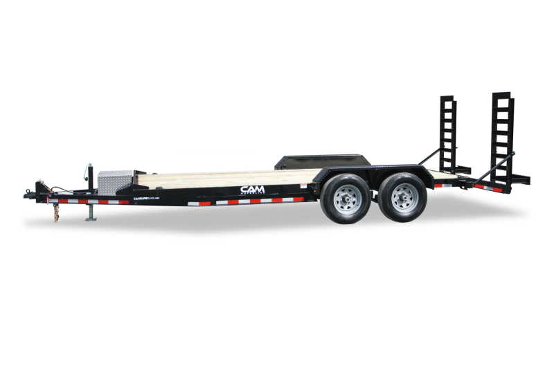 CAM 2020 8.5' X 16' 7EC162C 7-TON EQUIPMENT HAULER CHANNEL FRAME BEAVER TAIL EQUIPMENT TRAILER