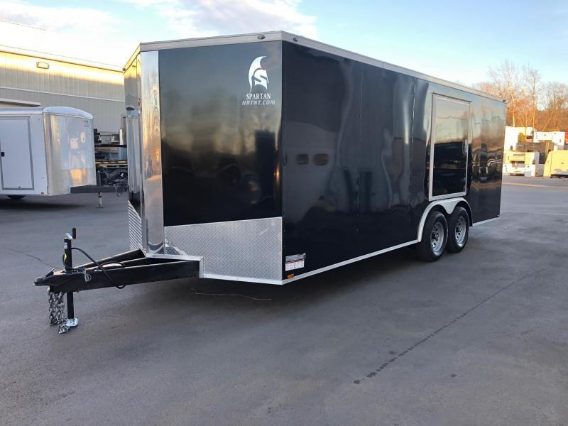 SPARTAN CARGO 2020 8.5 X 20 TANDEM AXLE  BLACK SEMI SCREWLESS W/ TRIPLE TUBED TONGUE AND SIDE ACCESS DOOR  ENCLOSED TRAILER