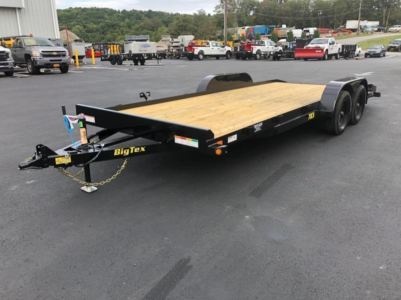 BIGTEX 2020 70CH 7' x 20' TANDEM AXLE CAR HAULER / EQUIPMENT TRAILER