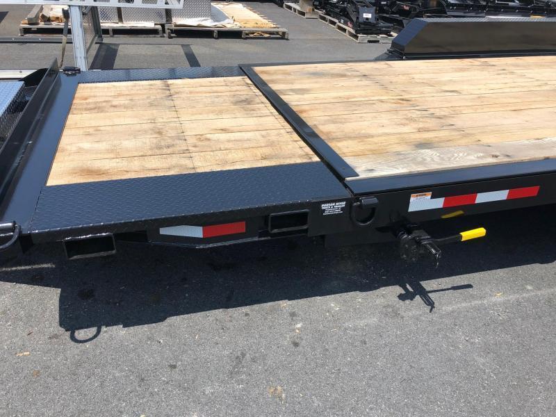 CAM 2020 Low Profile Extra Wide 8-Ton Split Tilt Utility Equipment Trailer (8CAM155STTXW)