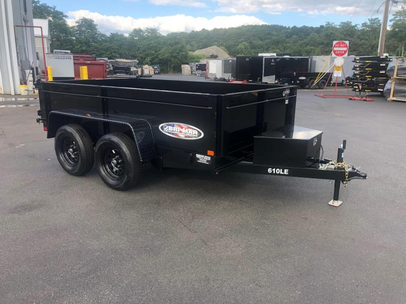 BRI-MAR 2020  6' x 10' TANDEM AXLE LOW PROFILE DUMP TRAILER