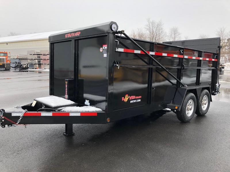 BWISE 2020 DU16-15 7' x 16' BLACK ULTIMATE DUMP LOW PROFILE TRAILER