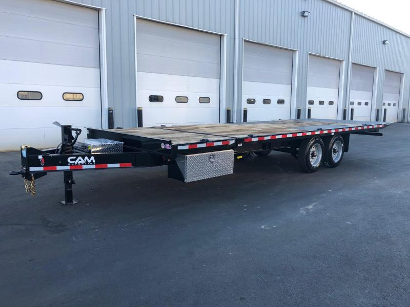 CAM SUPERLINE 2019 8.5 X 24 SPLIT TILT DECKOVER EQUIPMENT TRAILER