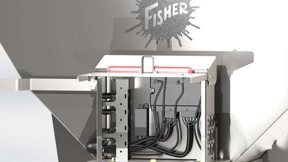 Fisher Steel-Caster Hopper Salt Spreader