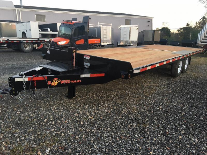 BWISE 2020 8.5' X 24' BLACK HYDRAULIC TILT DECKOVER EQUIPMENT TRAILER