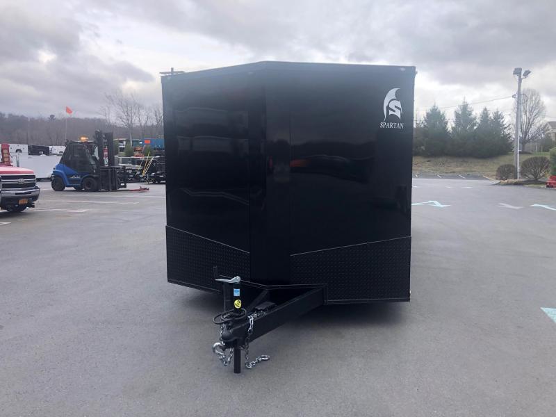 SPARTAN CARGO 2020 8.5 X 24 TANDEM AXLE BLACK WITH BLACKOUT  SEMI SCREWLESS ENCLOSED TRAILER
