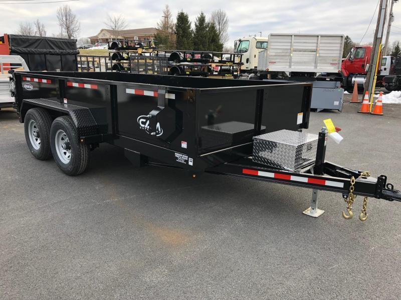 CAM ADVANTAGE 2020 6.8' x 14' LOW PROFILE HEAVY DUTY DUMP TRAILER