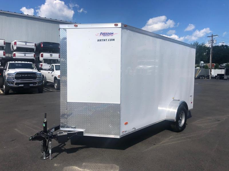 FREEDOM 2020 6X12 SINGLE AXLE WHITE CARGO/ENCLOSED TRAILER
