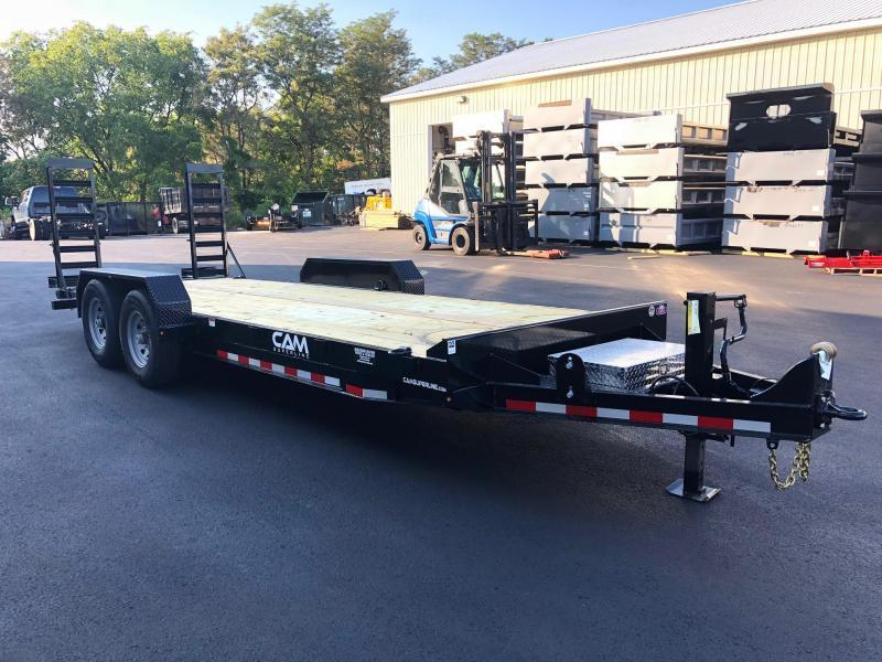 CAM 2020 7CAM20 8.5' X 20' CHANNEL FRAME EQUIPMENT TRAILER HAULER