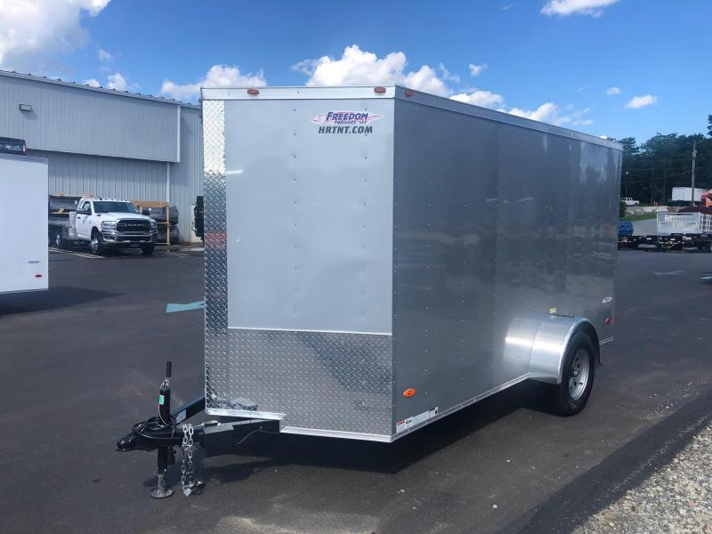 FREEDOM 2020 6X12 SINGLE AXLE SILVER CARGO/ENCLOSED TRAILER