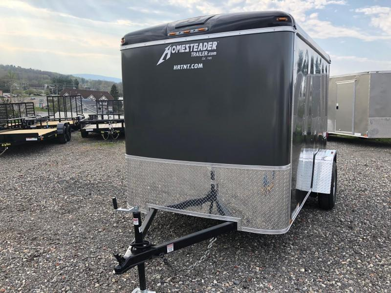 HOMESTEADER 2020 6' x 10' GRAY CHALLENGER ENCLOSED TRAILER w/EXTRA HEIGHT