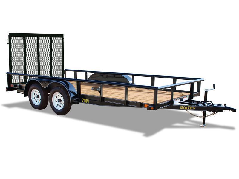 BIGTEX 2020 70PI 7' x 14' Tandem Axle Pipe LANDSCAPE / UTILITY TRAILER