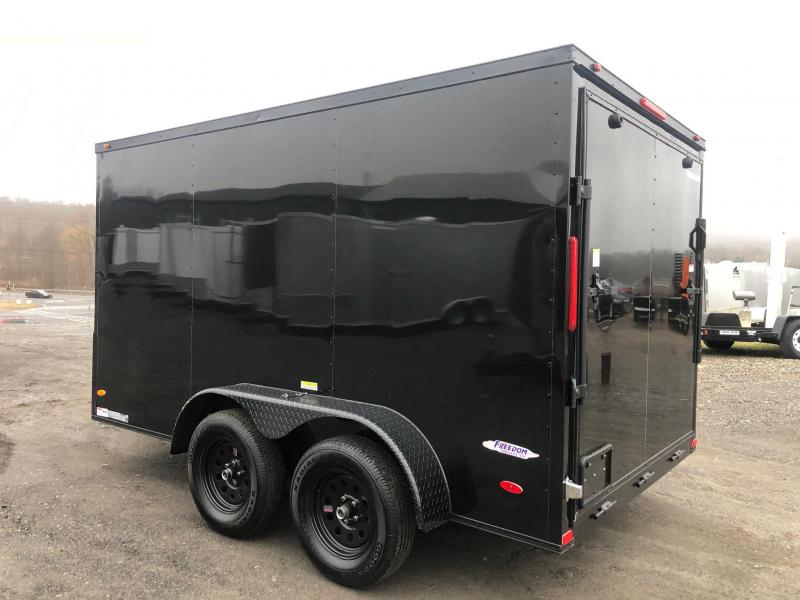 FREEDOM 2020 7X12 TANDEM AXLE BLACK W/ BLACKOUT CARGO/ENCLOSED TRAILER