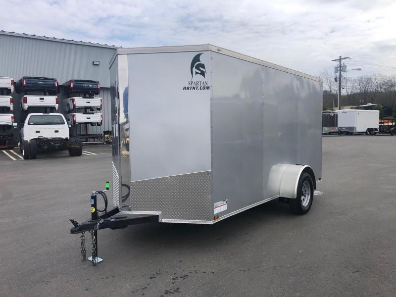 SPARTAN CARGO 2020  6X12 SINGLE AXLE SILVER SEMI SCREWLESS ENCLOSED TRAILER